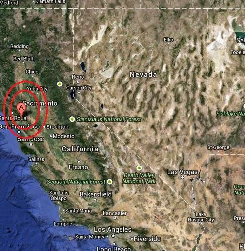 Magnitude 3.2 Earthquake of Napa, California 2014-08-31
