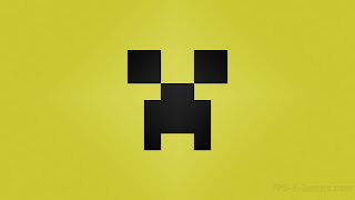 Minecraft Creeper desktop wallpapers yellow