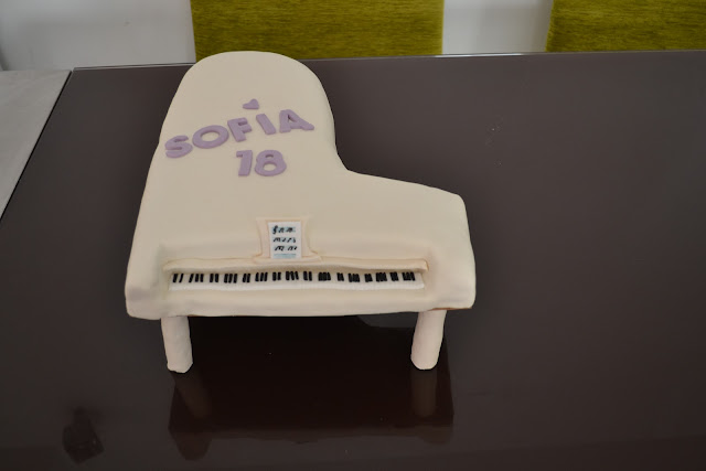 tarta Torneado Piano fondant