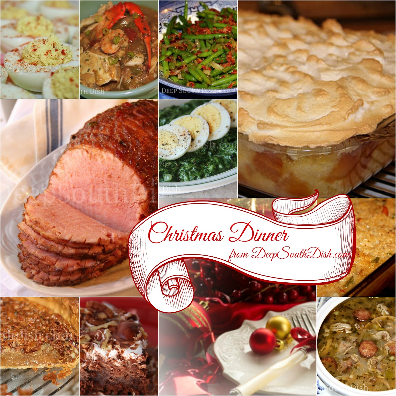 deep south dish southern christmas dinner menu and recipe