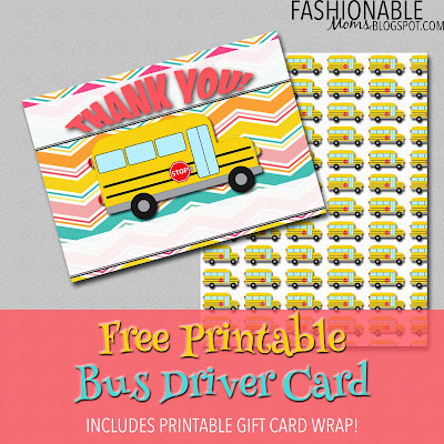 Old Fashioned image regarding bus driver thank you card printable