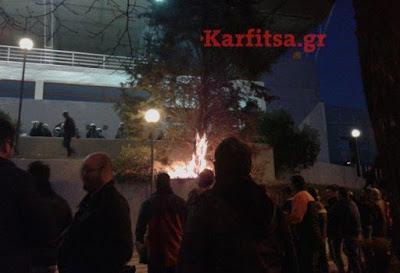 Άγρια επεισόδια αγροτών με ΜΑΤ στην Θεσσαλονίκη - Ματαιώθηκαν τα εγκαίνια της Agrotica ΒΙΝΤΕΟ