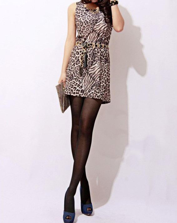 mazzy side cutout dress. Coil Leopard Print Dress