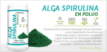 alga spirulina en polvo