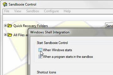 configuração do Sandboxie
