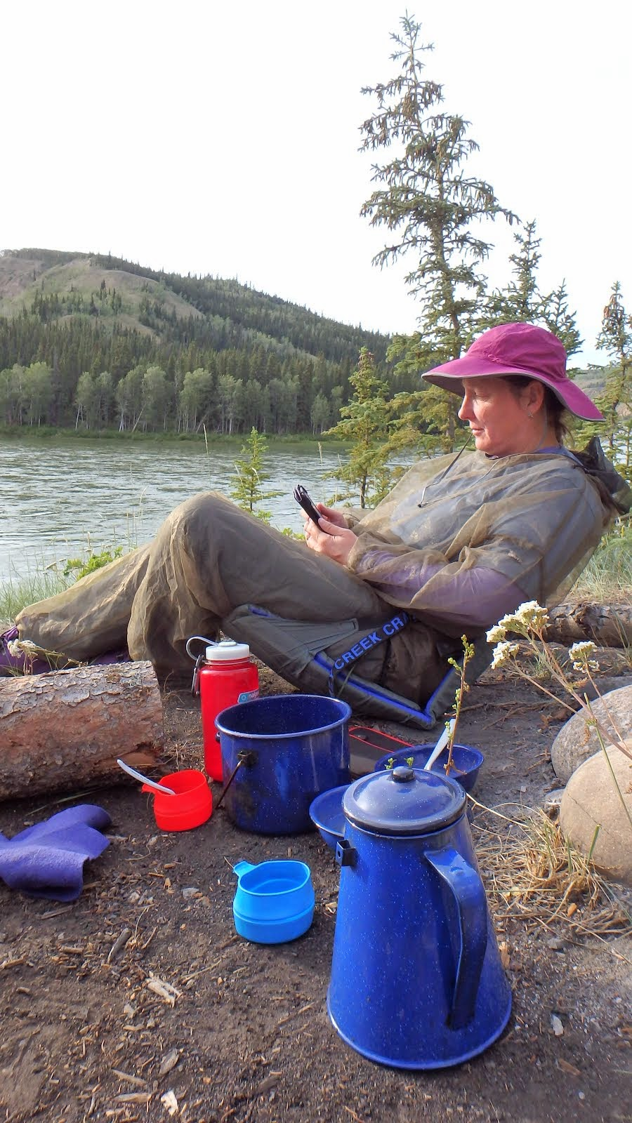 Reading by the Yukon River Summer 2014