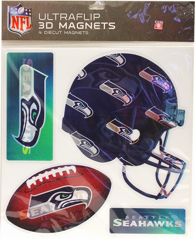 3D Seattle Seahawks Magnets
