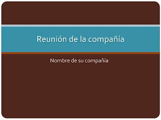 presentación reunión empresa