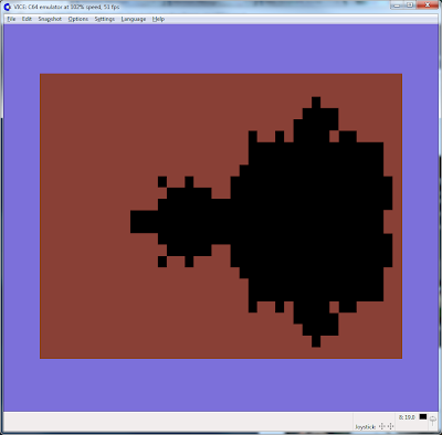 Low resolution image of a Commodore 64 Mandelbrot set