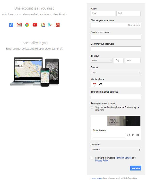 Buat email baru gmail 2014 -gmail registration