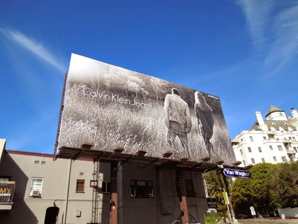 Calvin Klein Jeans B&W Spring 2014 billboard