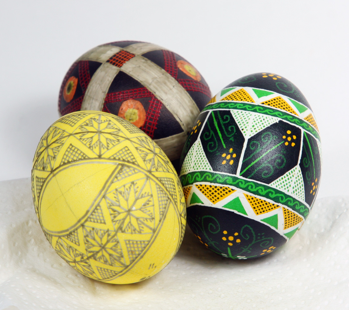 Pysanky In Different States Of Completion