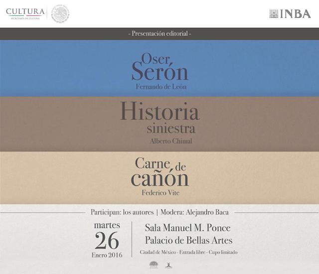Presentarán la Colección de Narrativa Breve de Cuadrivio en el Palacio de Bellas Artes