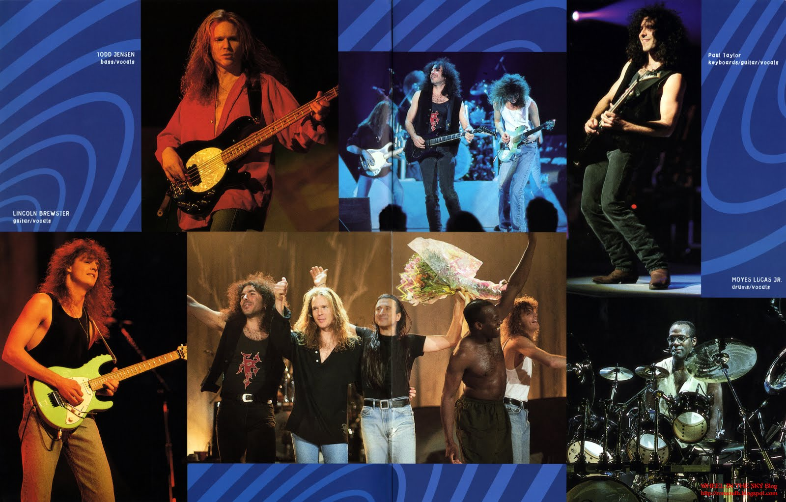 wheel in the sky steve perry for the love of strange medicine the second poster a centerfold of steve perry and band on stage