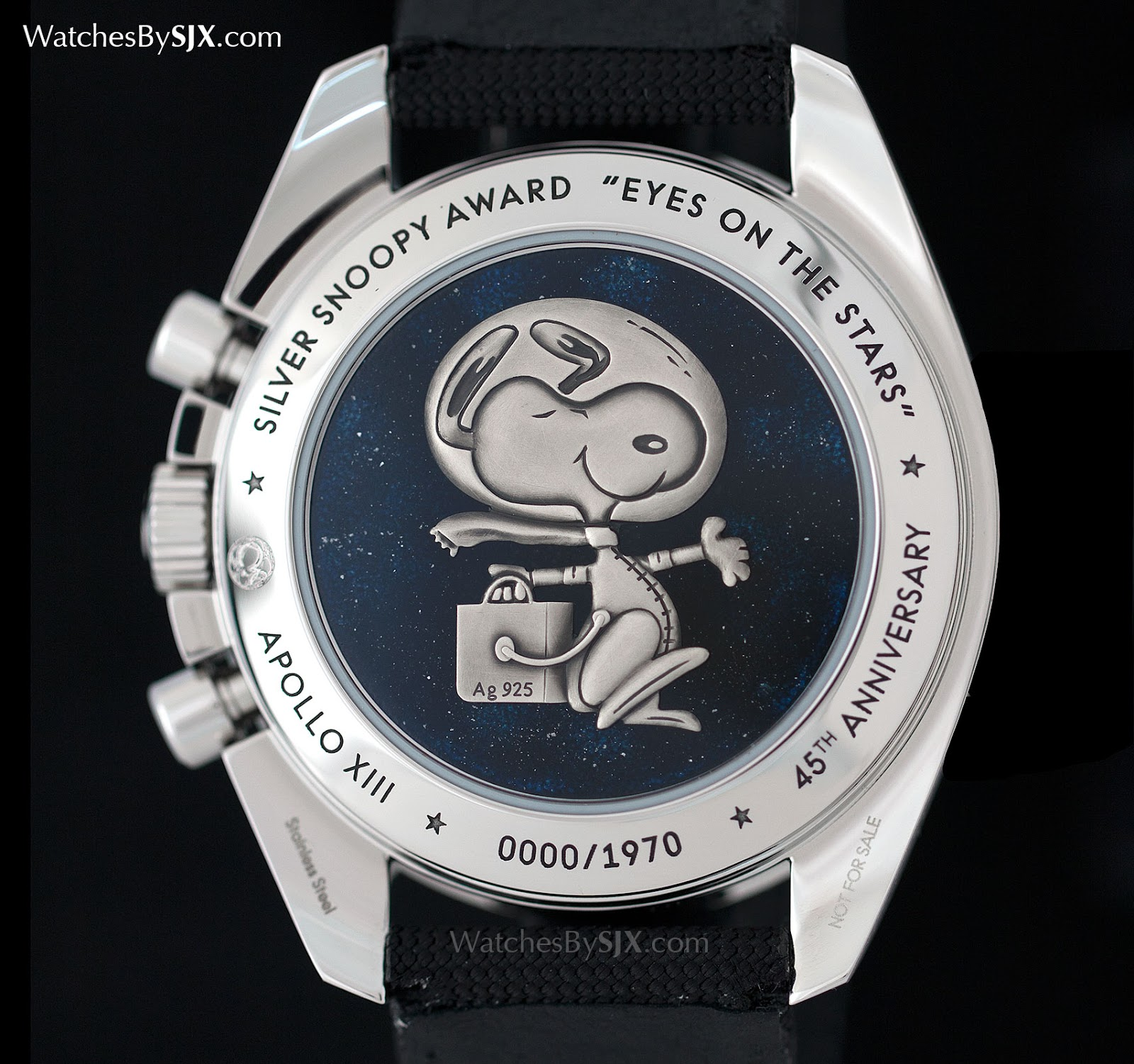 Watches by sjx hands on with the omega speedmaster apollo 13 silver snoopy award with original for Snoopy watches