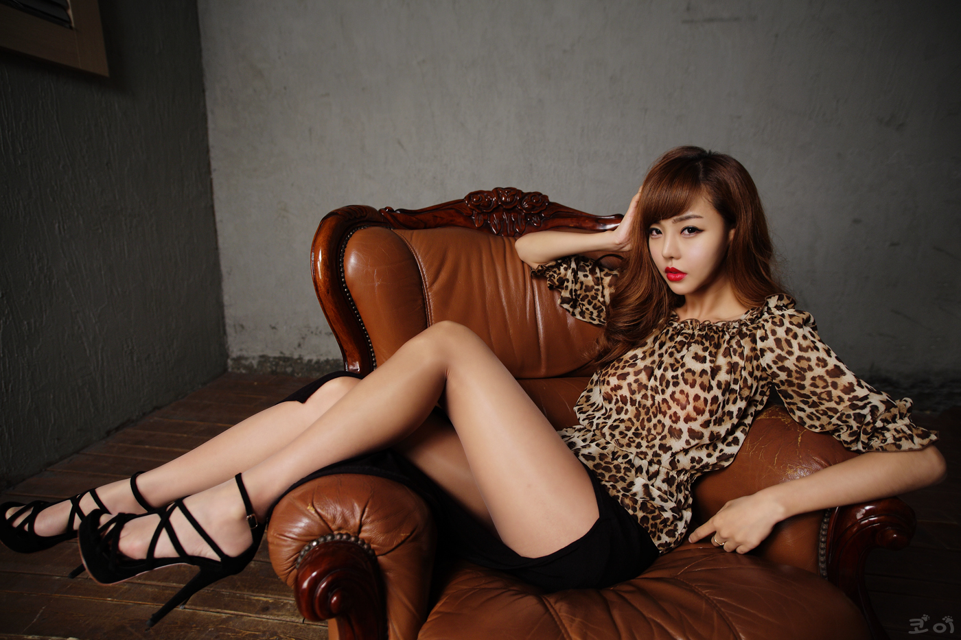 My Cute Korean Girls: Seo Jin Ah, Sexy Leopard