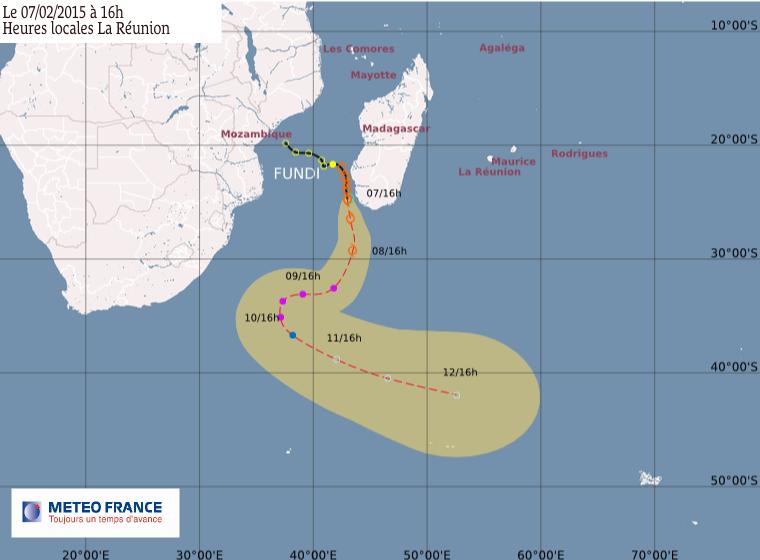 La tempête tropicale Fundi s'éloigne de Madagascar