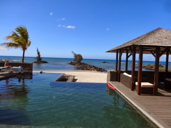 Infinity Pool at the Bon Azur Apartments in Mauritius