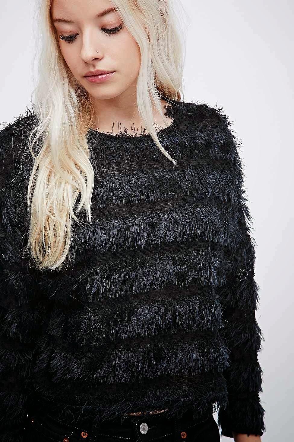 black eyelash jumper, urban outfitters fluffy jumper,
