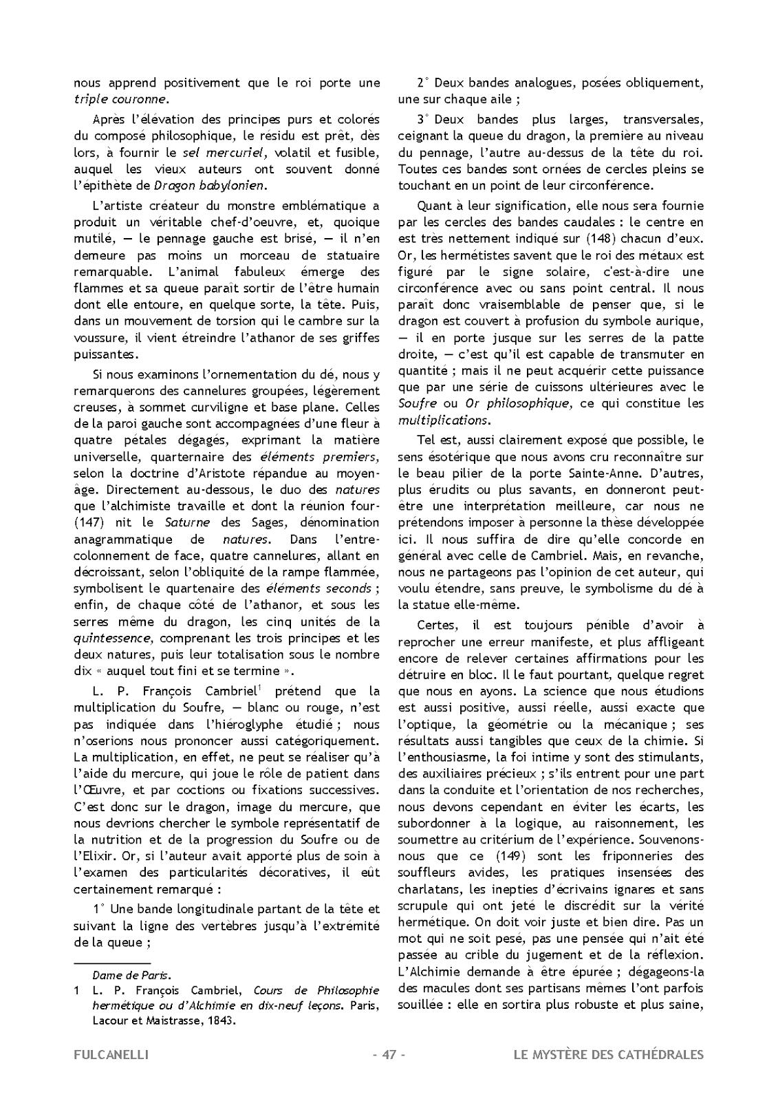 Le miroir alchimique fulcanelli le myst re des cath drales 1926 - Point p ivry ...