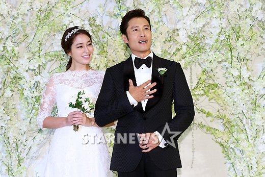 Lee Byung Hun ve Lee Min Jung D  252     252 n Foto  raflar  Lee Min Jung Wedding