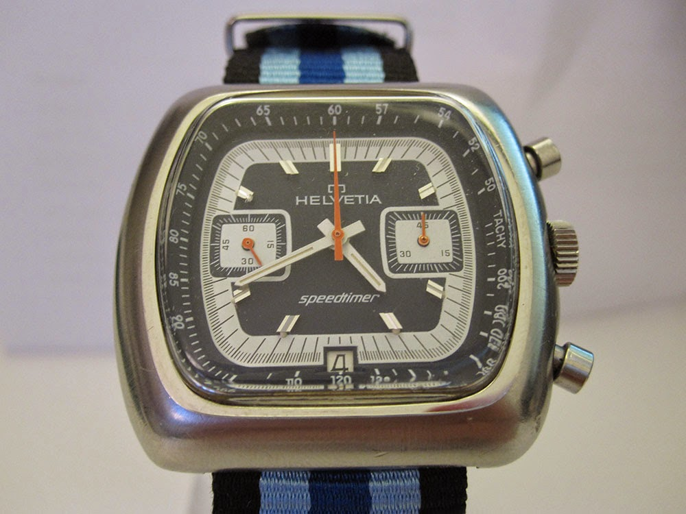 Helvetia chronograph Speedtimer with Valjoux 7734