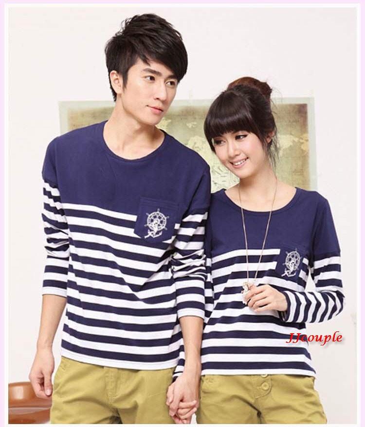 Baju Pasangan Model Pelaut Lengan Panjang