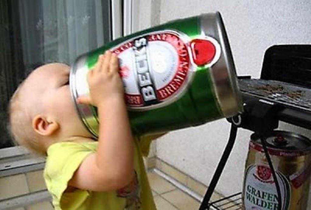 Foto gokil lucu bayi lagi mabuk berat editan