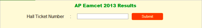 AP Eamcet 2013 Results Download