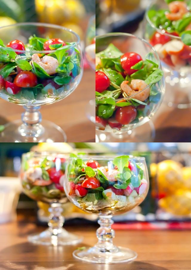 Salade crudit s crevettes surimi je dis m food blog for Petite entree sympa