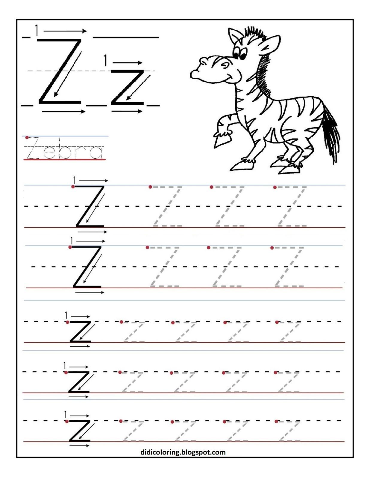 math worksheet : letter z preschool worksheets  letter z tracing worksheets  : S Worksheets For Kindergarten