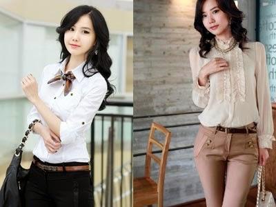 baju kemeja korea2 trend fashion model baju korea di indonesia 2015 andi life,Model Baju Wanita Korea