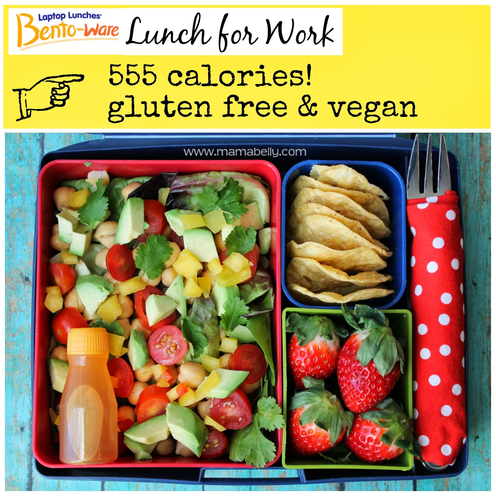 Vegan and Gluten Free Lunch for Work in Laptop Lunches - mamabelly.com