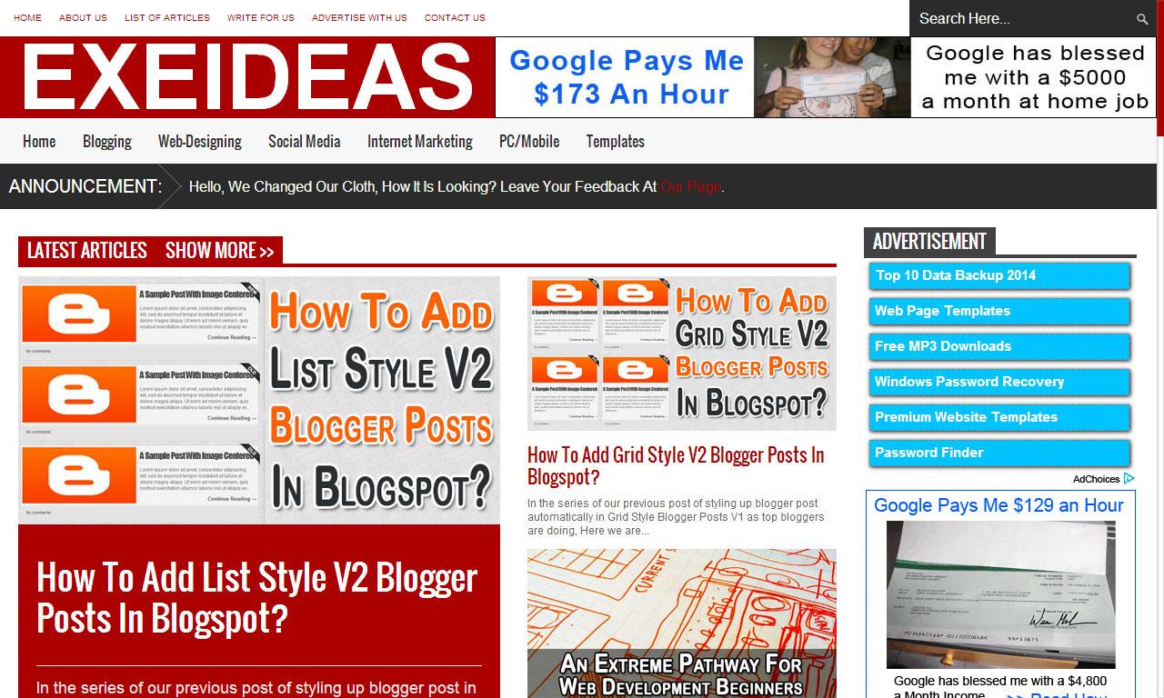 EXEIdeas's Blog Got A New Design On 21-Feb-2014