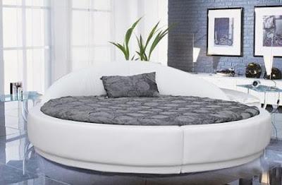 diseño de cama redonda