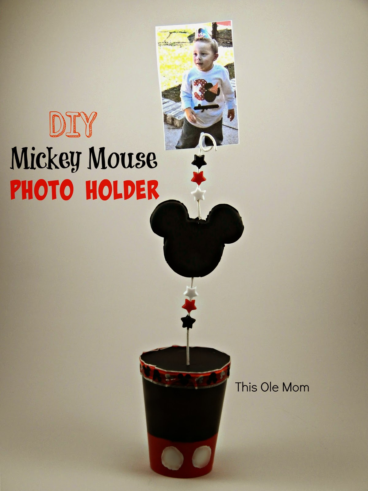 Disney Mickey Mouse Picture Holder, Disney Photo Holder, Mickey Mouse Photo Holder, How to make a photo holder