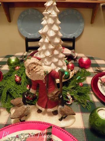 father Christmas, Christmas tablescape