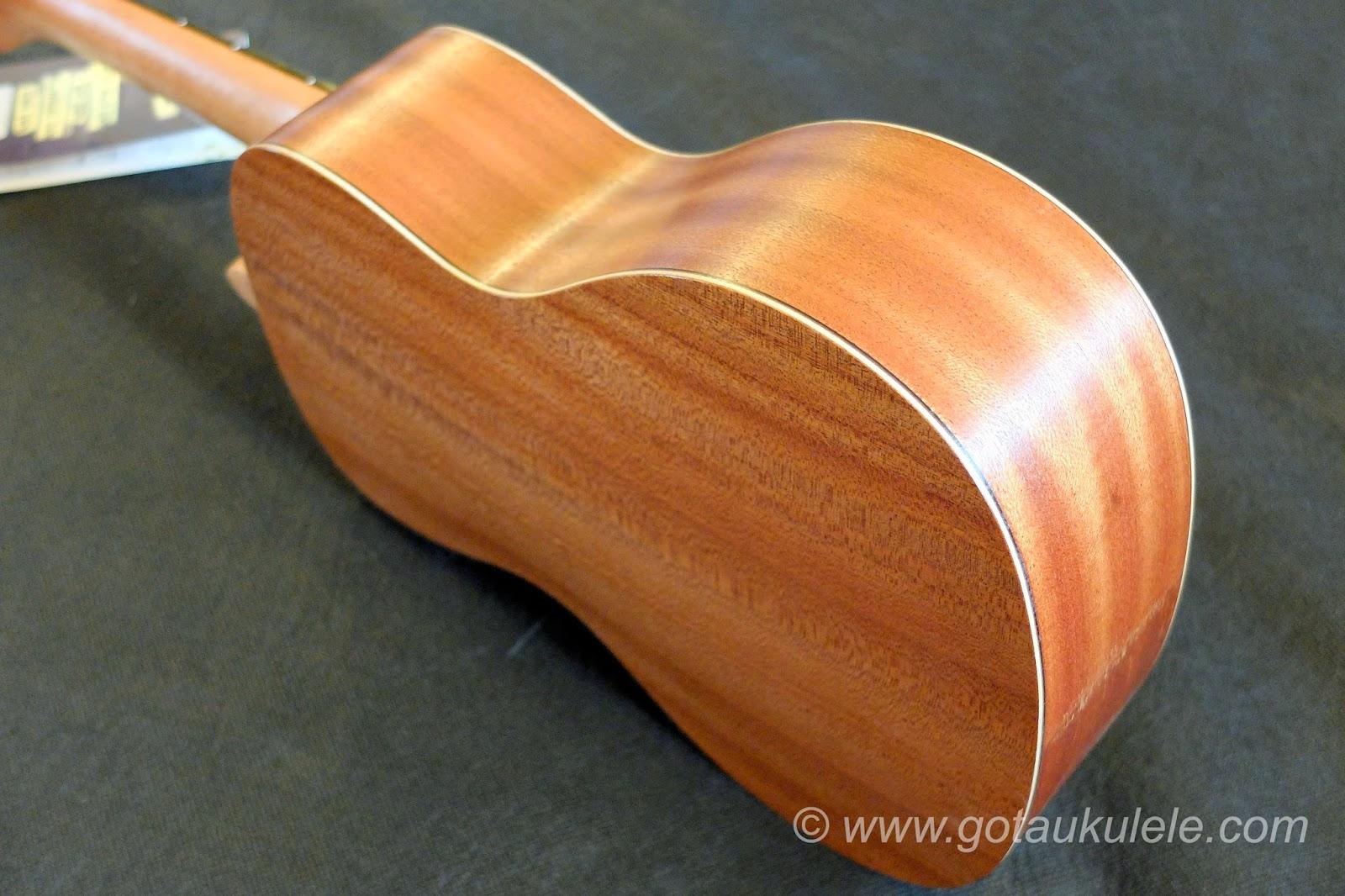 Baton Rouge V2C Sun ukulele back