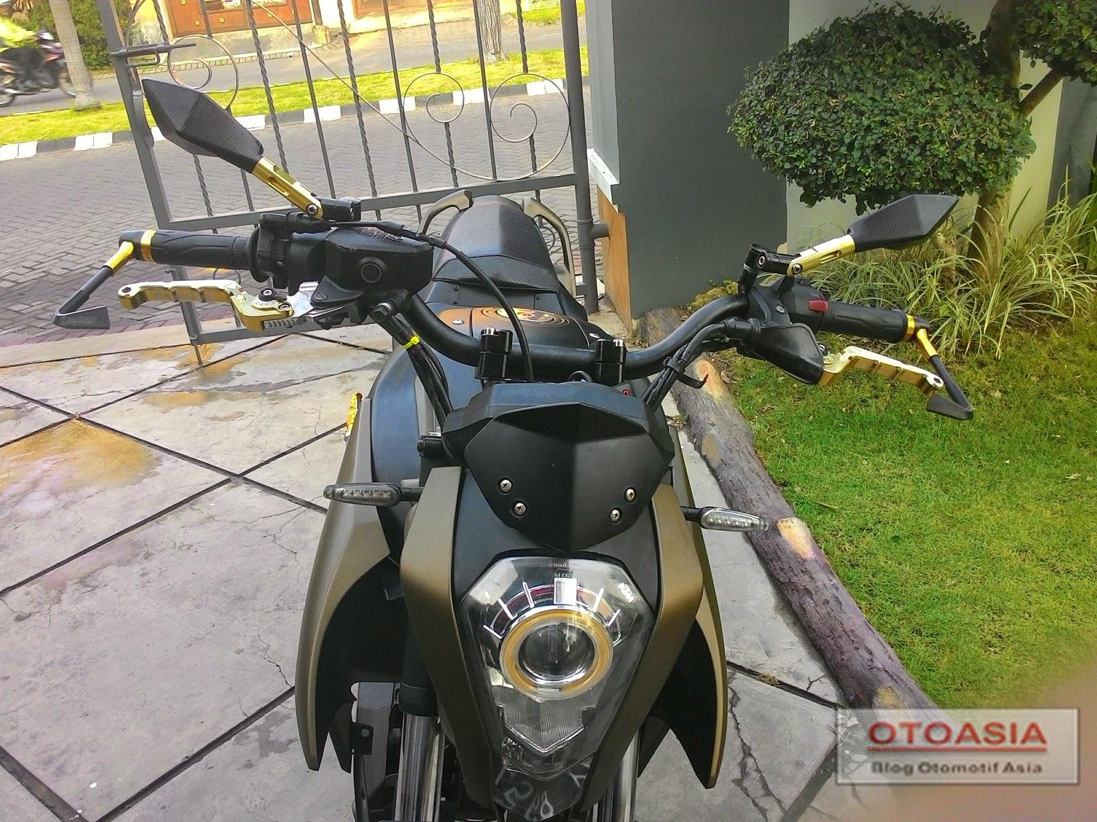 Modifikasi Yamaha Byson  Untuk harian dan juga touring, bagian mesin di bourup jadi 280cc