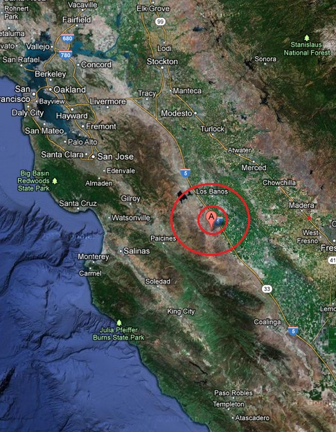 central california usa earthquake 2013 March 31