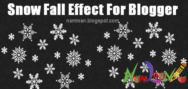 Hiệu ứng tuyết rơi đẹp trang trí blogspot dịp Noel