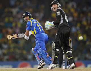 Kumar Sangakkara made another brilliant knock of 54 for his team, Sri Lanka vs New Zealand, 1st Semi-Final, ICC Cricket World Cup 2011, Colombo, March 29, 2011