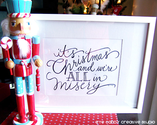 it's christmas & we're all in misery, Christmas Vacation movie quote