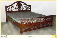 Tempat tidur ukiran kayu jati Kipas