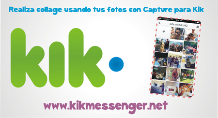 Realiza collage usando tus fotos con Capture para Kik