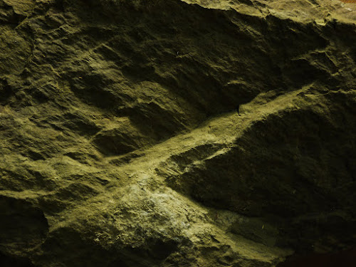 Rock texture photographed with incandescent relief lighting #3