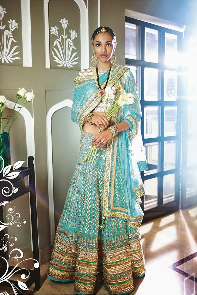 Anita Dongre The Summer Bride Your Dream Bridal Lehenga In Blue
