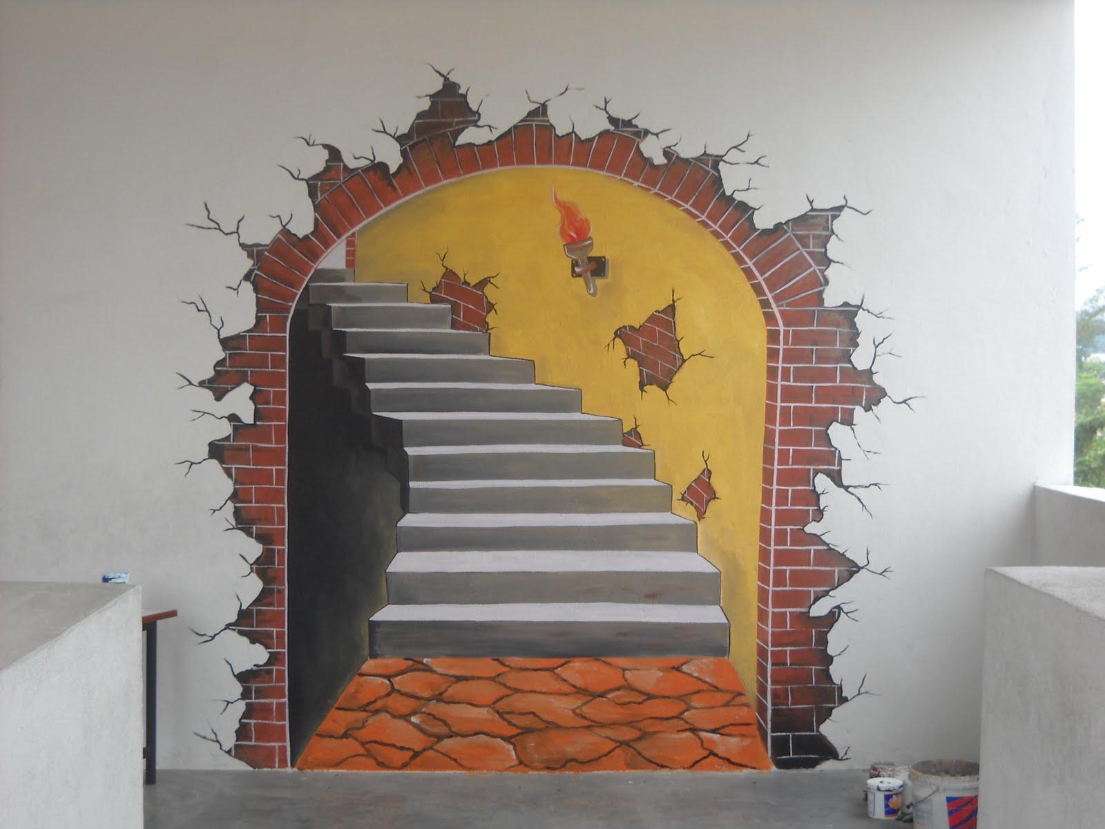 Pelukis mural shah alam 3d picture for Mural kartun
