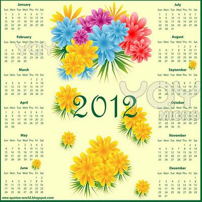2012 calendar wallpapers