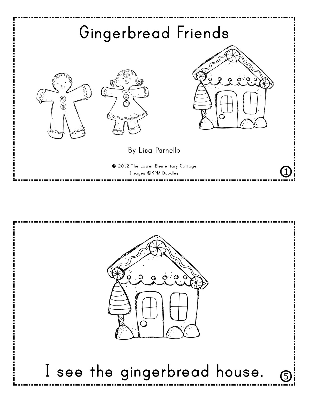 the lower elementary cottage gingerbread man mini unit with